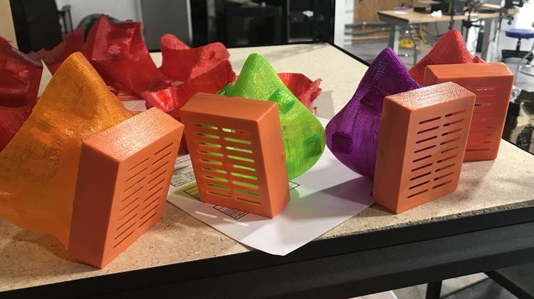 Completed 3D printed masks