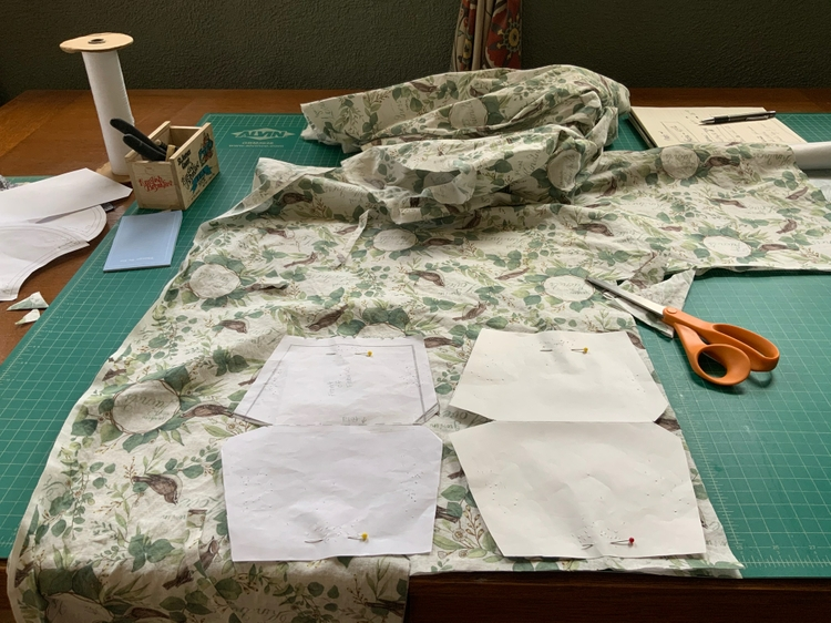 Turning fabric scraps into masks
