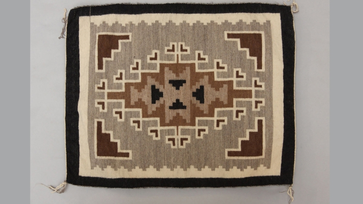 Two Grey Hills Navajo blanket