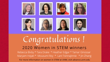 Eight UNM faculty selected for 2020 UNM Women in STEM awards