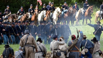 Civil War reenactment shows