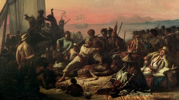 The first record of enslaved people