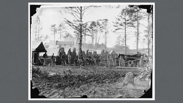 Camp of 18th Pennsylvania Cavalry,