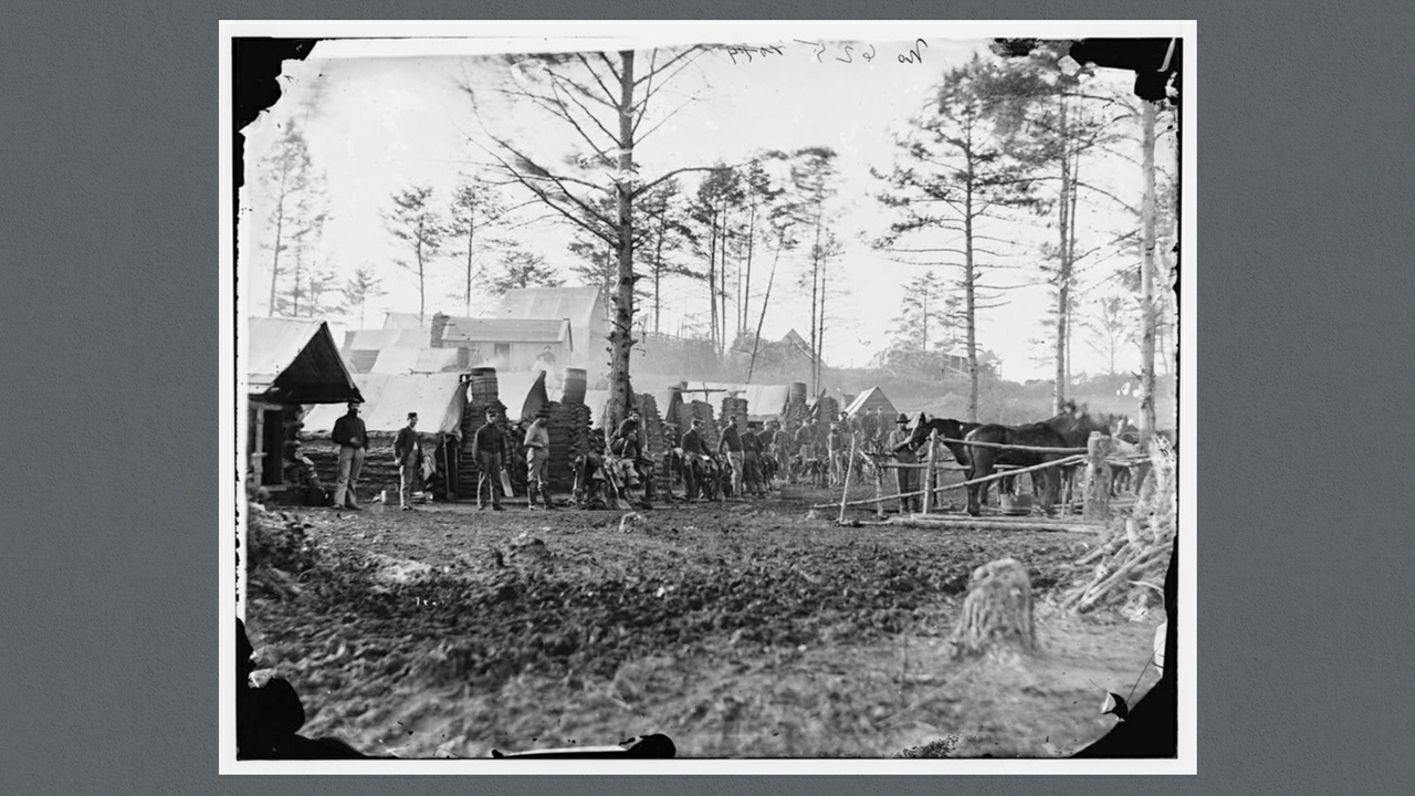 Camp of 18th Pennsylvania Cavalry,