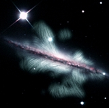 UNM astronomers on team revealing the magnetic field of a spiral galaxy