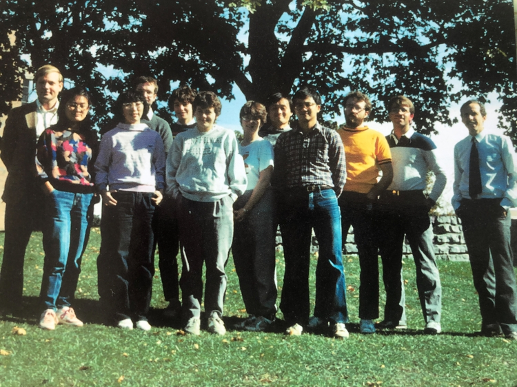 Whitten with a research group at University of Rochester, 1996