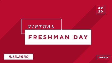 UNM hosts virtual Freshman Day
