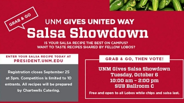 Registration open for UNM Gives 'Grab N' Go Salsa Showdown'