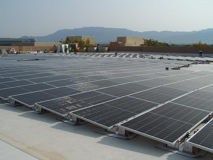 Solar panel array on Zimmerman