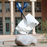 UNM students greeted by new public art sculptures on campus