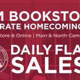 Celebrate Homecoming @ UNM Bookstores with daily flash sales; extended Game Day Friday sale