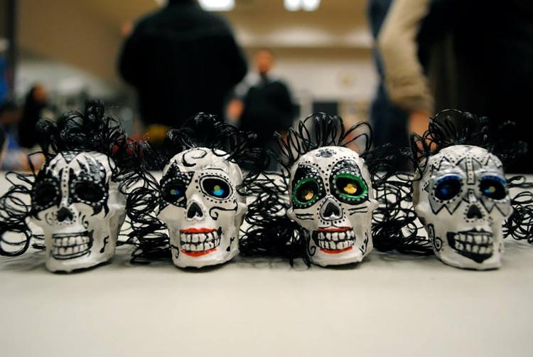 Calaveras, or sugar skulls, have become a widely-recognized symbol of Día de los Muertos