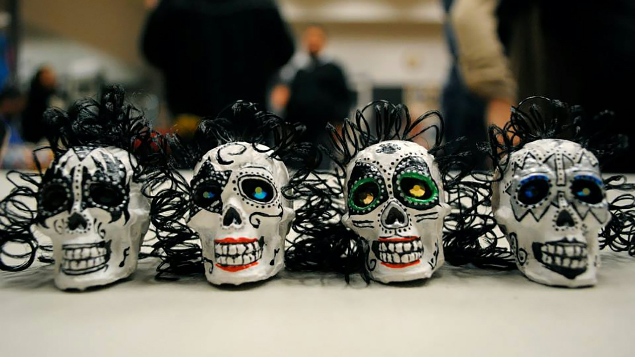 Calaveras, or sugar skulls, have become a widely-recognized symbol of Día de los Muertos