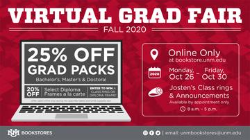 UNM Bookstores host Virtual Grad Fair Oct. 26-30
