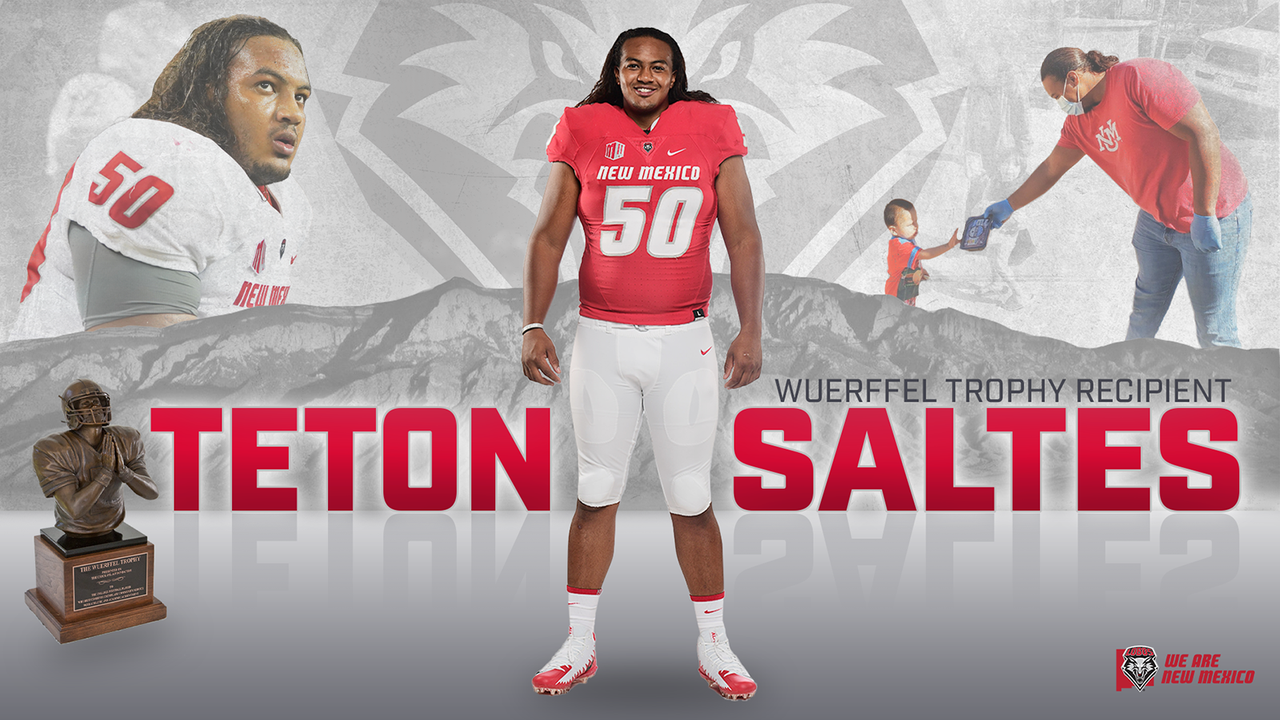 Teton Saltes named winner of Wuerffel Trophy