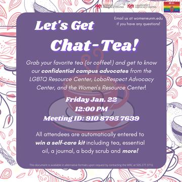 Chat Tea Flyer