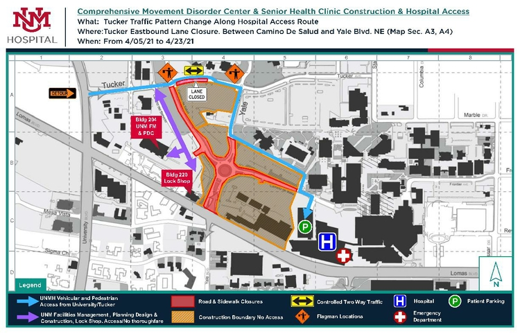 CMDC-SHC_Construction_Tucker Lane Closure Map_April 202111