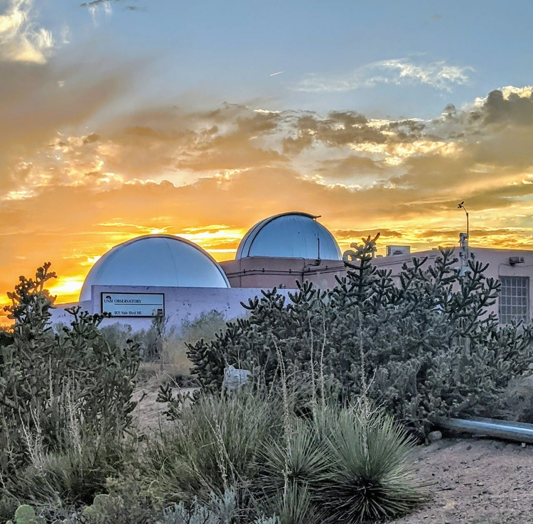 Sunset at the UNM Observatory