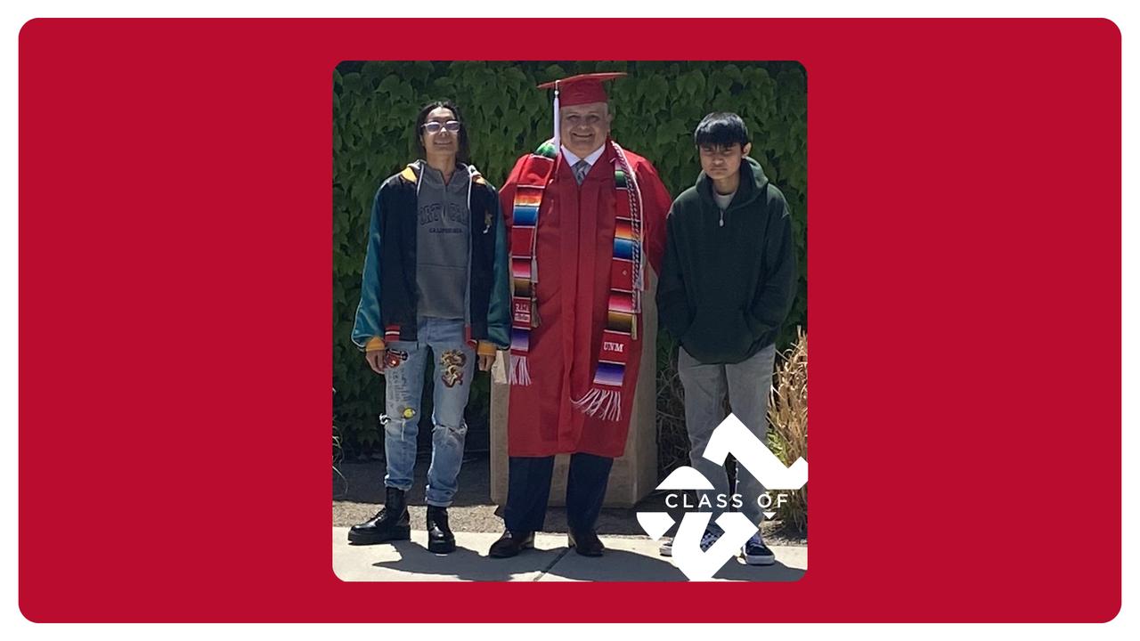 Army experience drives UNM student Jacinto-Temilotzin Sanchez to graduate