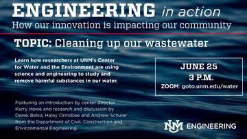 Engineering in Action to feature Center for Water and the Environment on June 25
