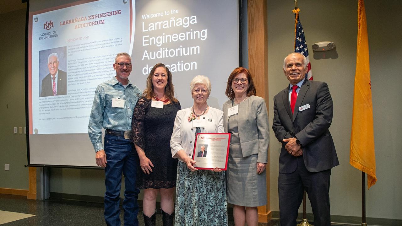 Engineering auditorium dedicated in honor of former Rep. Larry Larrañaga