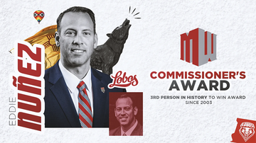 UNM's Eddie Nuñez honored with Mountain West Commissioner's Award