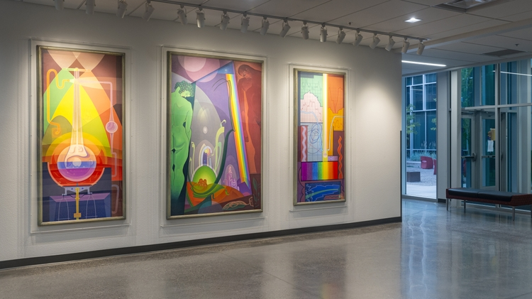 Pieces bring light and color to the new space