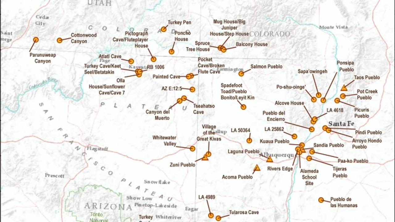 Pueblo locations