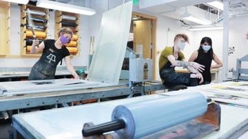 Student printers at work