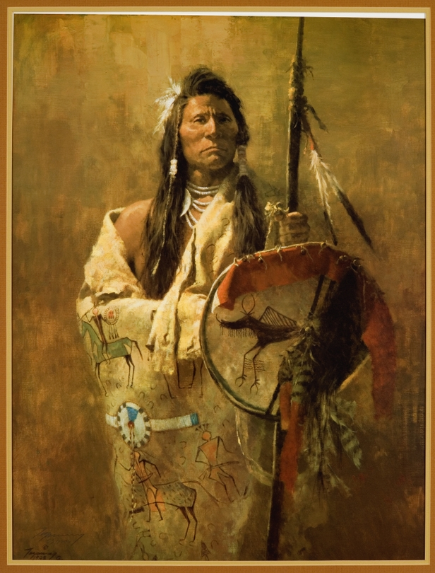"""Indian Portrait"" by Howard Terpning"