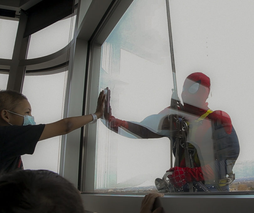 Spiderman at Children's Hospital!