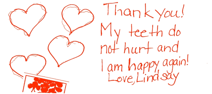Lindsay's Thank You Card