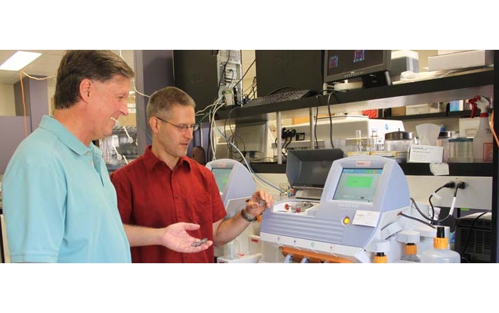 Cancer Center researchers with the new Ion Proton Genome Sequencer