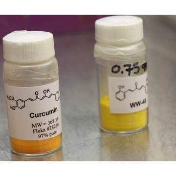 Vials of Curcumin