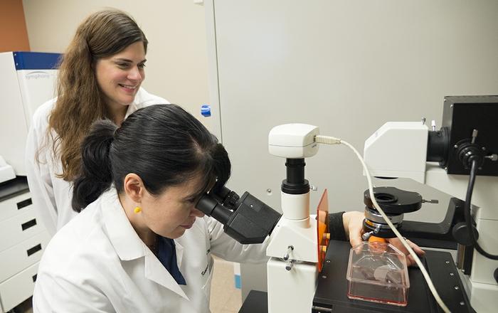Katherine Morris, MD, and Ellen Beswick, PhD