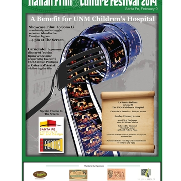 Italian film festival expands to Santa Fe, benefits UNM Children's Hospital