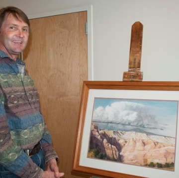 For former cancer researcher, science influences art