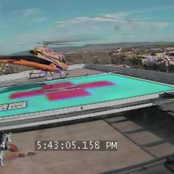 PHI medical helicopter crash landing
