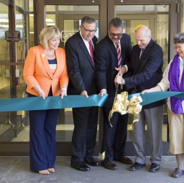 Fitz Hall ribbon-cutting