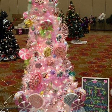 UNM physician assistant students take Lollipop Lane to the 2015 Festival of Trees