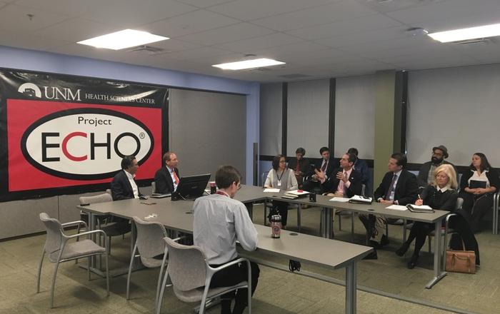 U.S. Sen Tom Udall visits Project ECHO (12.14.16)