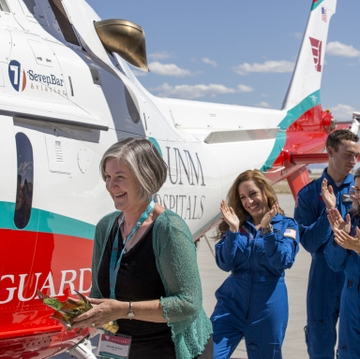 UNM Hospitals launches new Lifeguard medical transport helicopter