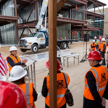 Topping-Out Ceremony for Domenici Center Phase III