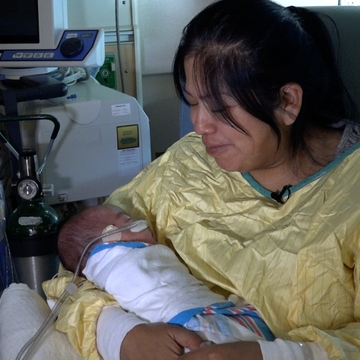 Dylan Waseta, received donor milk. He was born at over one pound.