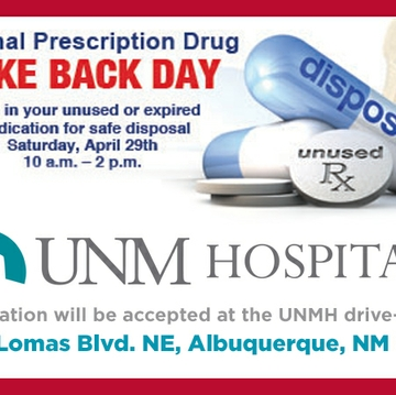 UNM Hospital opens drive-thru for Rx Take Back Day April 29