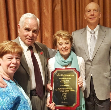 UNM honors former regent Jamie Koch and his family