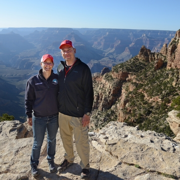 Emily Pearce and Jon Femling, MD, at the Grand Canyon.