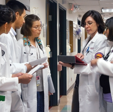 UNM medical students gaining clinical experience in rural NM