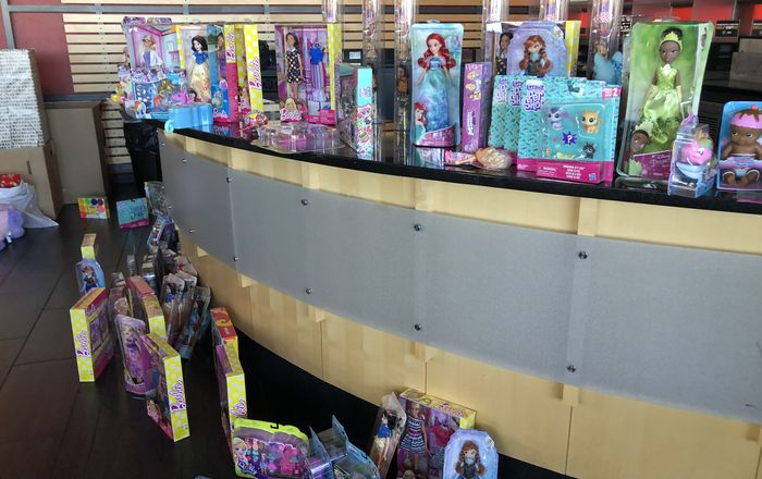 Toys are seen at Mariposa Event