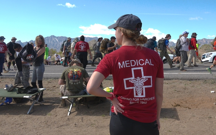 UNM Health Sciences Center Volunteers Once Again Help Make the Bataan Memorial Death March a Success